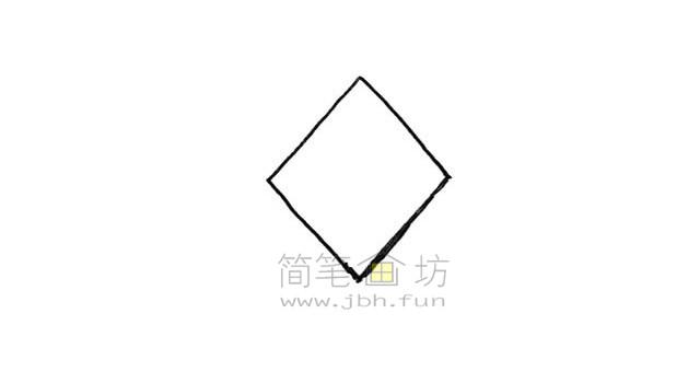 好看的中国结简笔画绘画步骤教程【彩色】(1)