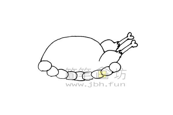 美味的火鸡简笔画绘画步骤教程【彩色】(5)