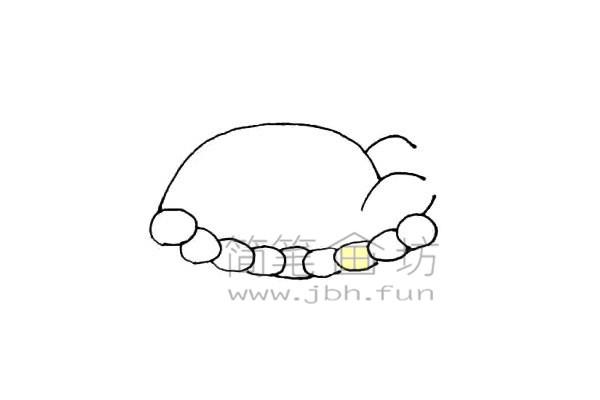 美味的火鸡简笔画绘画步骤教程【彩色】(4)