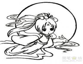 嫦娥仙子动漫简笔画图片
