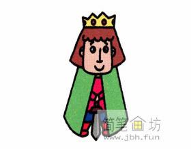 帅气的王子的简笔画教程