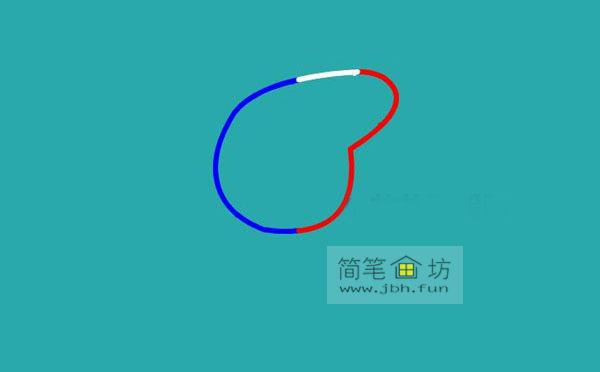 小猪佩奇简笔画分解步骤教程(2)