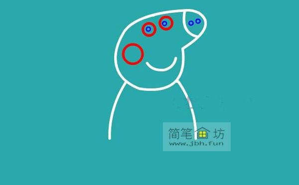 小猪佩奇简笔画分解步骤教程(4)