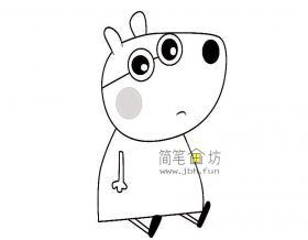 小猪佩奇简笔画-小熊布丽安娜简笔画步骤教程