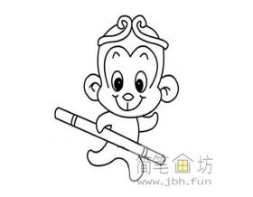非常可爱的卡通孙悟空简笔画图片