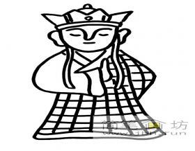 卡通唐僧简笔画图片2幅