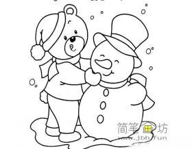 简笔画雪人的画法图片4幅