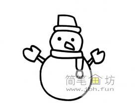 简笔画:小雪人