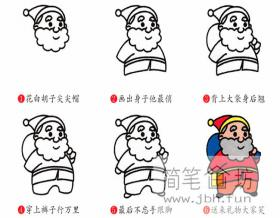 图解圣诞老人的简笔画步骤