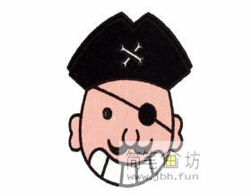海盗的简笔画教程