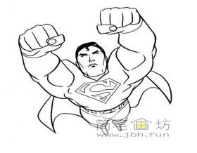 关于超人的简笔画图片1幅