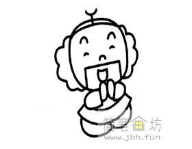 Q版沙僧简笔画图片