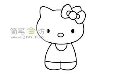 可爱的kitty猫简笔画教程(6)