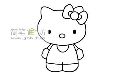 可爱的kitty猫简笔画教程(8)