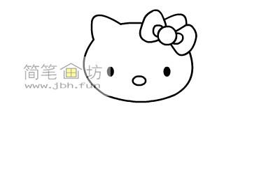 可爱的kitty猫简笔画教程(4)