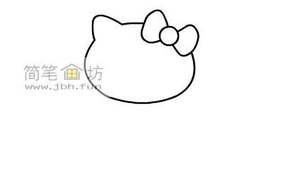 可爱的kitty猫简笔画教程(2)