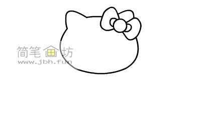 可爱的kitty猫简笔画教程(3)