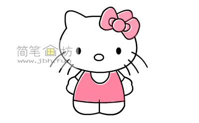可爱的kitty猫简笔画教程(10)