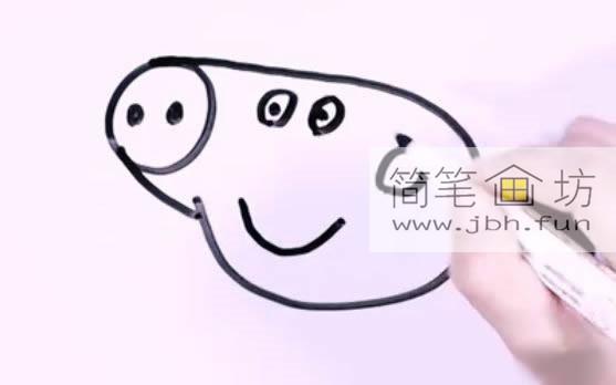 小猪佩奇的简笔画教程详解(4)