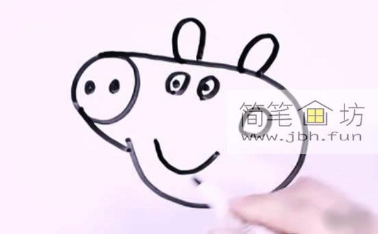 小猪佩奇的简笔画教程详解(5)