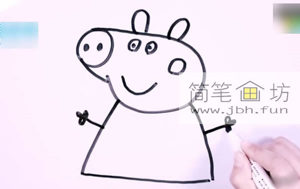 小猪佩奇的简笔画教程详解(7)