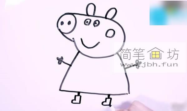 小猪佩奇的简笔画教程详解(8)