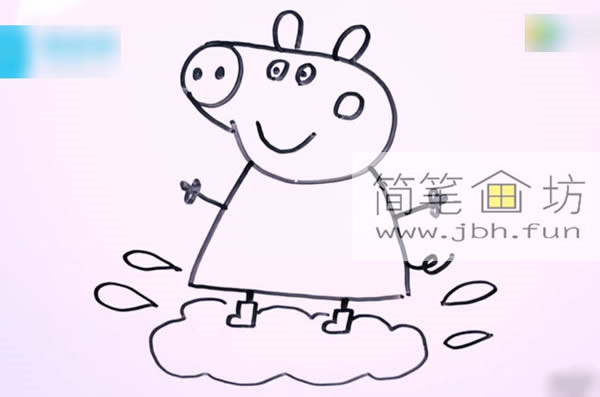 小猪佩奇的简笔画教程详解(9)