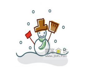 可爱的小雪人的绘画步骤
