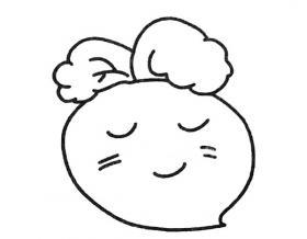 卡通胡萝卜简笔画图片