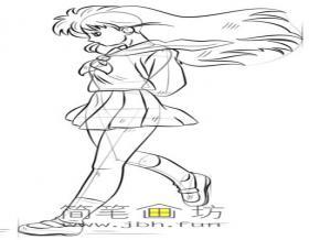 卡通美少女的简笔画教程