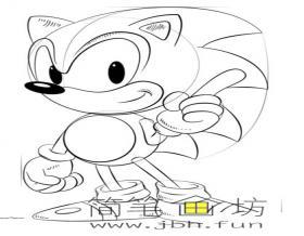 卡通人物音速小子索尼克的简笔画教程