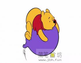 彩色维尼熊的简笔画教程解析