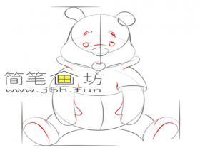 简单的步骤教你画小熊维尼的简笔画