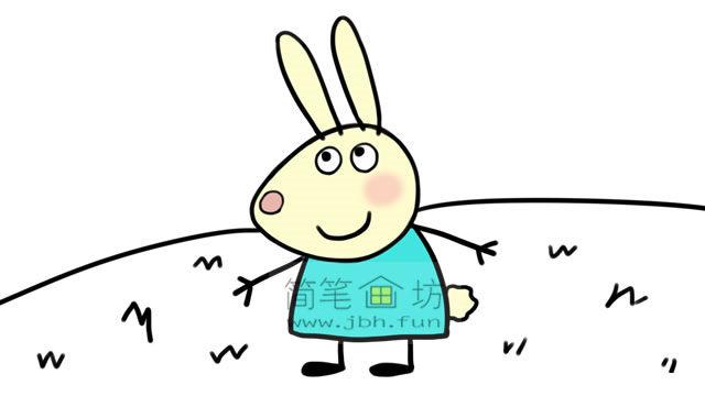 小兔瑞贝卡的彩色简笔画画法教程(8)