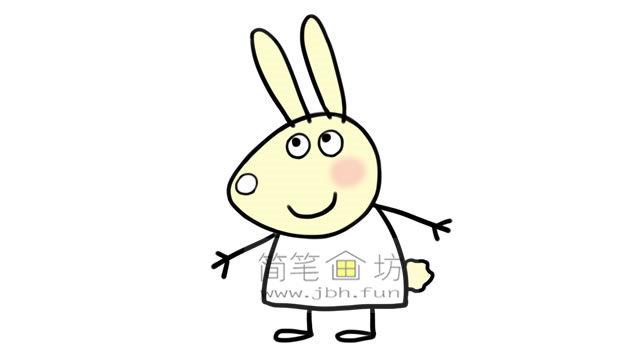 小兔瑞贝卡的彩色简笔画画法教程(6)