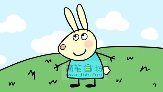 小兔瑞贝卡的彩色简笔画画法教程(9)