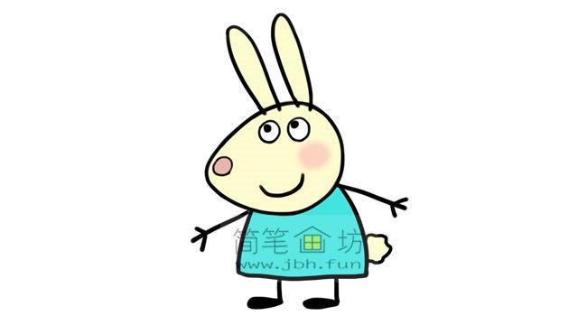 小兔瑞贝卡的彩色简笔画画法教程(7)