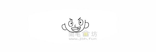 海贼王路飞简笔画简笔画教程【彩色】(5)