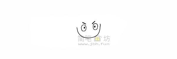 海贼王路飞简笔画简笔画教程【彩色】(3)