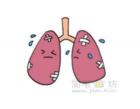 肺炎简笔画画法教程【彩色】