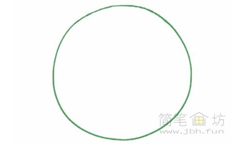 卡通甜甜圈简笔画的画法【彩色】(1)