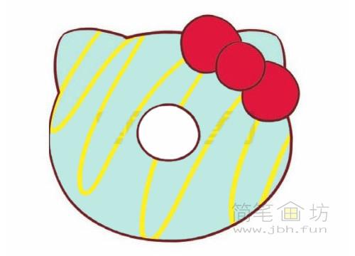 卡通甜甜圈简笔画图片大全【彩色】(1)