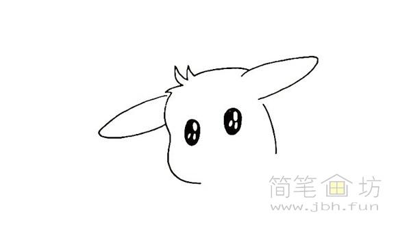 可爱的皮卡丘简笔画画法【彩色】(3)