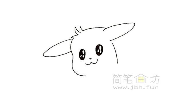 可爱的皮卡丘简笔画画法【彩色】(4)