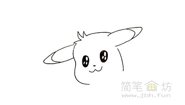 可爱的皮卡丘简笔画画法【彩色】(5)