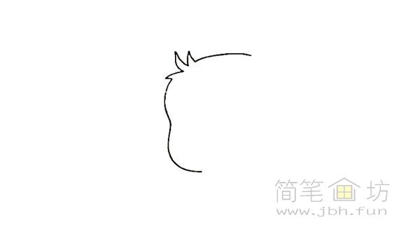可爱的皮卡丘简笔画画法【彩色】(1)