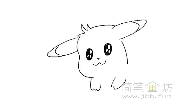 可爱的皮卡丘简笔画画法【彩色】(6)