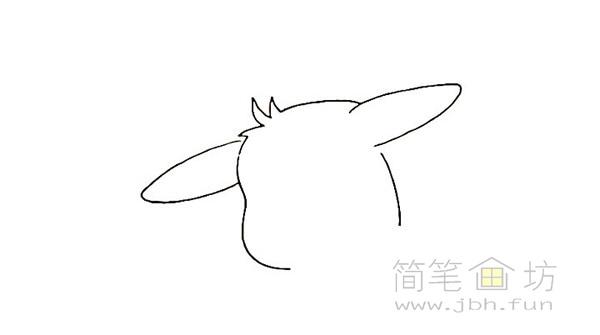 可爱的皮卡丘简笔画画法【彩色】(2)