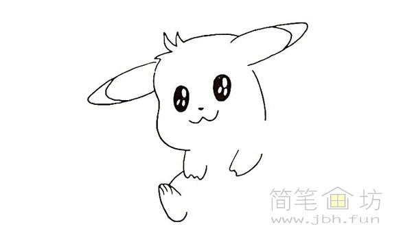 可爱的皮卡丘简笔画画法【彩色】(7)