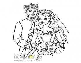 王子和公主简笔画简笔画图片